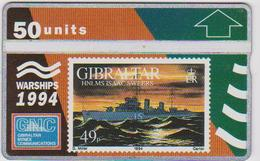 #03 - GIBRALTAR-09 - HNLMS ISAAC SWEERS - STAMP - 409A - Gibraltar
