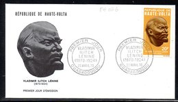 Haute-Volta A 076/77 Fdcs Vladimir Ilitch Lénine , URSS - Lenin