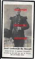 Oorlog Guerre Jules De Smedt Assche Soldaat Grenadier Gesneuveld Te Pervijze OKT 1914 Diksmuide Kaaskerke Ramskapelle - Devotion Images