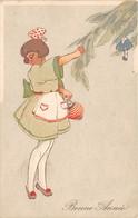 CPA Fantaisie - Bonne Année -  Enfant - Fillette - Illustrateur - Nouvel An