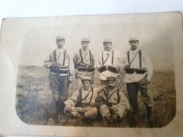 CPA  CARTE PHOTO MILITARIA EUGENE VARAGNAT  (DE SAILLANT?) LA CAMPAGNE 1914 1918 - Characters