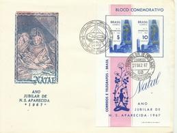 BRASIL, SOBRE  CONMEMORATIVO  NATAL  AÑO  1967 - Brazilië