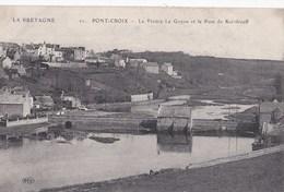 Carte 1915 PONT CROIX / LA RIVIERE , LE GOYEN ET LE PONT DE KERIDREUFF - Pont-Croix