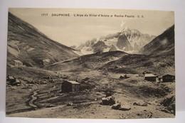 L'Alpe Du Villar D' Arène Et Roche - Faurio  ( REFUGE ) Au Dos Document Collé à Voir - Frankrijk