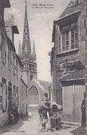 Carte 1915 PONT CROIX / LA RUE DU PRESBYTERE (2 Vieillards) - Pont-Croix