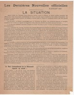 WW2 - Les Dernières Nouvelles Officielles. 28 Juillet 1944 - Historische Documenten