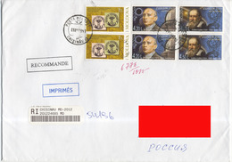 2009 Moldova Addressed Registered Cover. 6 Stamps: 150 Years Postage Stamp Of Moldova And Europe-Astronomy - Moldova