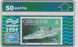 #03 - GIBRALTAR-10 - HMS WARSPITE - STAMP - 409A - Gibraltar