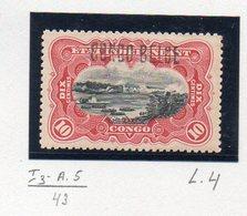 CONGO - MOLS - 10c Carmin COB 31 L4 - Planche Rare I3+A5 - X -  RRR Avec Surcharge - KX2 - 1894-1923 Mols: Mint/hinged