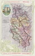 CPA Publicitaire Carte Géographique Chocolaterie D' Aiguebelle Département 55 MEUSE Sans Texte  (2 Scans) - Pubblicitari
