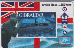 #03 - GIBRALTAR-11 - HMS STARLING - STAMP - 608L - Gibraltar