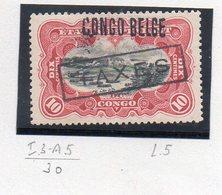 CONGO - MOLS - 10c Carmin COB 31 L5 / TX18 - Planche Rare I3+A5 - Obl = (X)  -  RRR Avec Surcharge - KX2 - Belgisch-Kongo