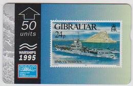#03 - GIBRALTAR-12 - HMS VICTORIOUS - STAMP - 512L - Gibraltar