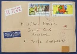 1987 Cover, Nouméa Nouvelle Calédonie - Gardanne Bouches France - Brieven En Documenten