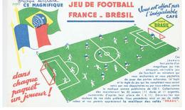 Buvard COSTA BRASIL Jeu De Football France-Brésil - Café & Thé