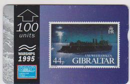 #03 - GIBRALTAR-13 - USS WEEHAWKEN - STAMP - 510L - Gibraltar