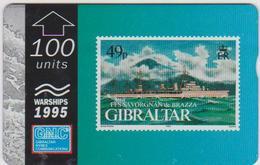 #03 - GIBRALTAR-14 - FSS SAVORGNAN DE BRAZZA - STAMP - 511L - Gibraltar