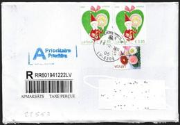 Lettonia/Latvia/Lettonie: Raccomandata, Registered, Recommandé - Lettonia