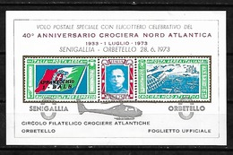 #A77A# ITALIA, ITALY CINDERELLA SHEET MNH**. HELICOPTER FLIGHT SENIGALLIA ORBETELLO. - 6. 1946-.. Repubblica