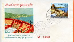 "Maroc;FDC 1971, TP N°614 "" Xème Anniversaire Du Couronnement De SM Hassan II ""Morocco;Marruecos - Marokko (1956-...)"
