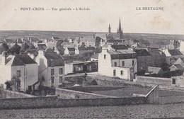 Carte 1915 PONT CROIX / VUE GENERALE - L'ARRIVEE - Pont-Croix