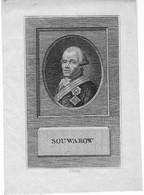Canu - Portrait Du Généralissime Alexandre Souvorov (1730-1800) - Lithografieën