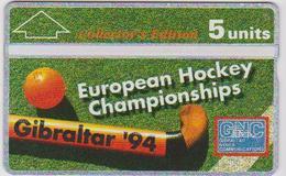 #03 - GIBRALTAR-19 - EUROPEAN HOCKEY CHAMPIONSHIPS 94 - 403A - Gibraltar