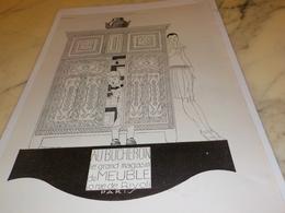 ANCIENNE PUBLICITE MAGASIN DE MEUBLE BUCHERON  1927 - Pubblicitari