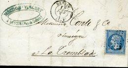 HESDIN Type 15  17 JUIN (67) + GC 1798 Sur 20c Emipre Dentelé - Marcophilie (Lettres)