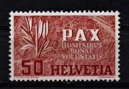(058) Schweiz--PAX 50 R. **/ MNH, Pracht - Neufs