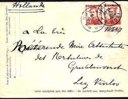 Belgique. Env. 16a + TP 118   L.  Huy 1 > Grubbenvorst  Pays-Bas  1914 - Enteros Postales
