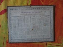 1877 CALENDRIER DU HAVRE PAPETERIE E. DUFLO RUE DES PINCETTES 29-  19cm/15cm IMP. A. LEMALE.-HAVRE - Calendriers