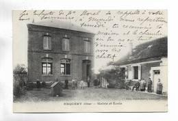 60 - ERQUERY ( Oise ) - Mairie Et Ecole. Carte Animée - France