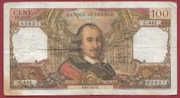 """100 Francs """"Corneille"""" Du 08/01/1970.B----VG/TTB---ALPH. C.442 ---(2) - 1962-1997 ''Francs''"""