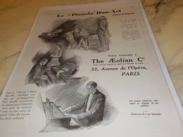 ANCIENNE PUBLICITE PIANOLA DUO ART ELECTRIQUE THE AEOLIAN COMPAGNY  1927 - Autres