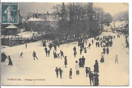 PONTARLIER - Patinage Sur Le Doubs - Pontarlier