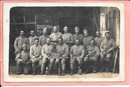 """Carte Photo De 2 Rangées De Militaire Inscription """"Les Rescapés De Breny"""" Envoyée Le 11/12/1918 9ème RI 10 Cie SP 145 - Guerre 1914-18"""