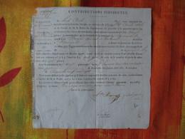8 AOUT 1827 CONTRIBUTIONS INDIRECTES LES EMPLOYES  CHARGES DE PROCEDER  AUX VERIFICATIONS DES CULTURES DE TABAC A MARMAN - Documents Historiques