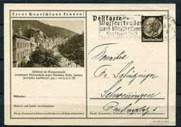 """German Empires 1935 GS Mi.Nr. P236/35-54-1-B3""""Lernt Deutschland Kennen!-Wildbad,Schwarzw.""""mit Ausstellungs-MWST""""1GS Used - Germania"""