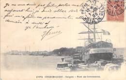 """VIETNAM Viet Nam ( Indochine ) SAÏGON : Port De Commerce ( Bateau De Commerce """" Cachemire """" ) CPA Précurseur - Vietnam"""
