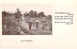"** Real Photo / Carte Photo ** SIERRA LEONE - Life's Sprime - Format CPA "" Vernie "" - Black Africa / Afrique Noire - Sierra Leone"