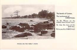 ** Real Photo / Carte Photo ** SIERRA LEONE - Waves On The Pebbly Shore - Format CPA Vernie - Black Africa Afrique Noire - Sierra Leone