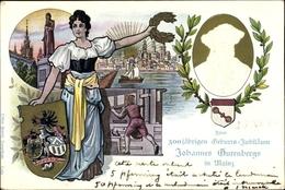 Gaufré Entier Postal Cp Mainz In Rheinland Pfalz, 500jh Gutenberg Jubiläum 1900 - Cartes Postales