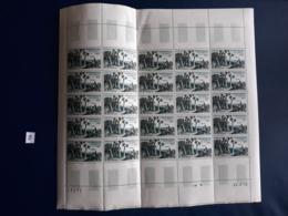 MADAGASCAR FEUILLE POSTE AERIENNE 1954 N° 75   SOIS 25 TIMBRES COIN DATE 1958 - Madagascar (1960-...)