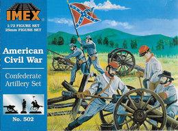 IMEX No. 502 American Civil War Confederate Artillery Set. - Small Figures