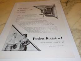ANCIENNE   PUBLICITE NOUVEAU  KODAK 1927 - Autres