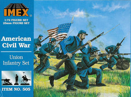 IMEX No. 505 American Civil War Union Infantry Set. - Small Figures