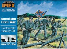IMEX No. 506 American Civil War Confederate Infantry Set. - Small Figures