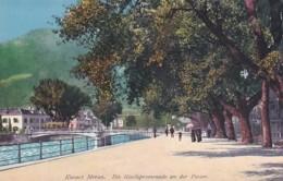 279638Kurort Meran, Die Giselapromenade An Der Passer (sher Kleines Falten Im Ecken) - Merano