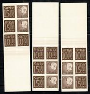 Sverige 1961  Yv  C463a IV** (A), C463a V** (B), C463a VII** (D) 3 Complete Booklets - Carnets